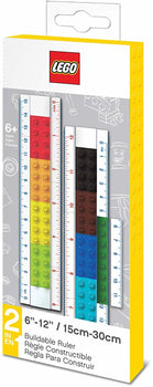 "Lego Stationery - Buildable Ruler - 12"" (30cm) Ruler with Building Bricks"