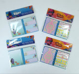 2 Set Variety Pack of Adorable Mini Sticky Notes, 4 Packs Total - Dory & Trolls
