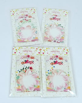 4 Packs of 8 Count - Varying Lovely Spring Designs Blue, Pink, Green, and Whites