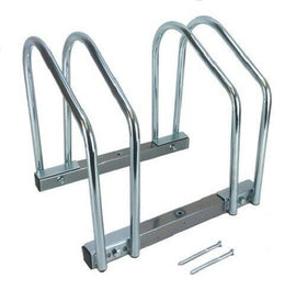 2 Bike Bicycle Stand Parking Garage Storage Organizer Cycling Rack Silver Twin