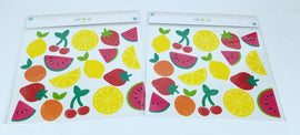 2 Sheets of 26 Count Each - Decorative Wall Art for Any Occasion - Fruit