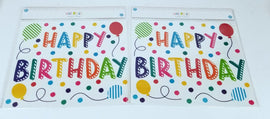 2 Sheets of 50 Count Each - Decorative Wall Art for Any Occasion, Happy Birthday