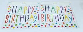2 Sheets of 47 Count Each - Decorative Wall Art for Any Occasion, Happy Birthday