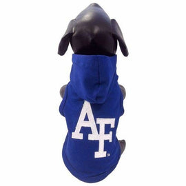 All Star Dogs NCAA Air Force Falcons Cotton Lycra Hooded Dog Shirt