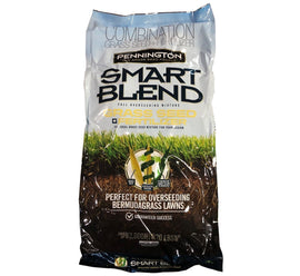 Pennington Smart Blend Grass Seed Fertilizer, Covers Up To 2,000 sq ft, 20 lbs