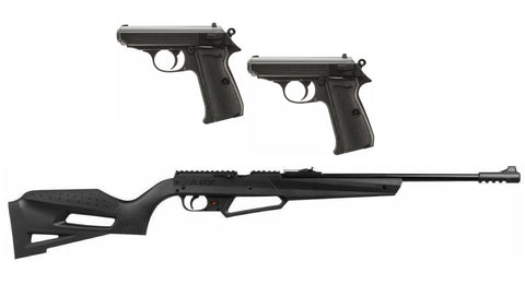 Set of 2 Umarex PPK/S Pistol and 1 NXG APX Rifle (Refurbished - Like New Condition)