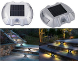 Set of 2 Waterproof LED Solar Powered Road Light Driveway Path Security Lamps