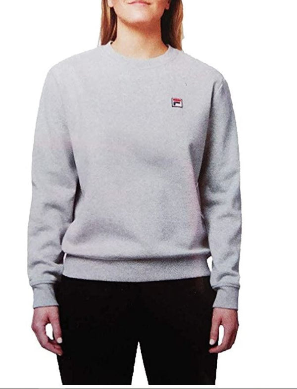 Fila Women's Michele Pullover Crewneck Sweatshirt (Grey, Small)