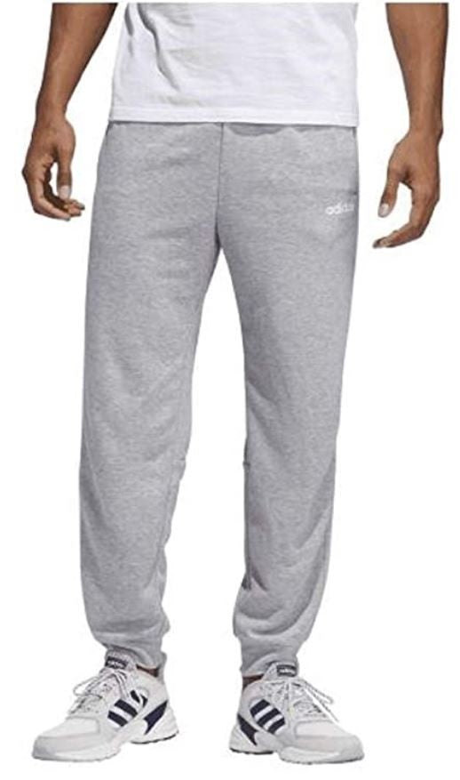 adidas Men's French Terry Jogger Grey/White X-Large