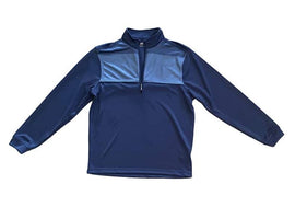 Bolle Men's Large Moisture Wicking Performance 1/4 Zip Pullover, Crown Blue