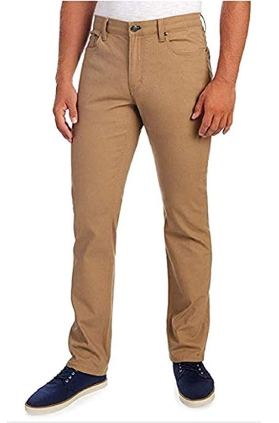 English Laundry Men's Casual Pants Khaki 40 X 30, 5 Pockets, Comfortable Stretchy