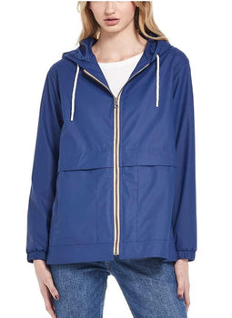 Weatherproof Vintage Womens Rain Slicker Jacket Twilight Blue Small