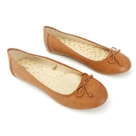 Cat & Jack, Girls Youth Slip On Berta Ballet Flats, Color: Brown, Size: Youth US