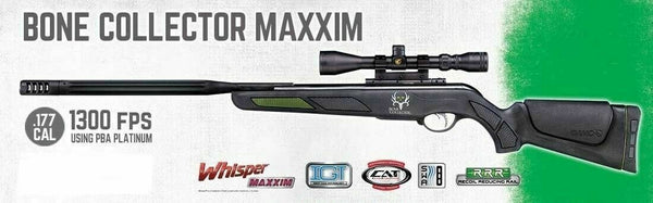 <p>Gamo Bone Collector Maxxim .177 Caliber Break Barrel Air Rifle</p>