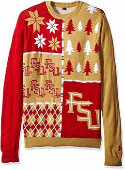 NCAA Forever Collectibles FLORIDA STATE BUSY BLOCK UGLY SWEATER