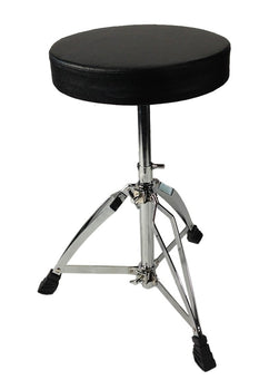 Drum Throne Chrome Double Braced Adjustable Round Swivel Seat Stool