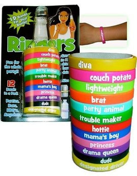 Ringers ID BANDS Bracelets Personalized Party Pack NEW