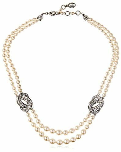 Ben-Amun Short Pearl Necklace with Infity Stations