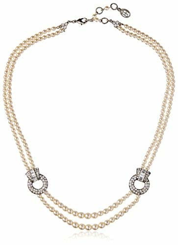 Ben-Amun Pearl Necklace with Crystal Stations