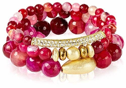 Devoted Bracelet Set, Pink