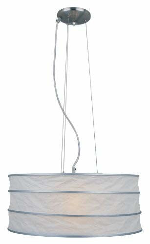 Lite Source LS-19430 Sedlar Ceiling Lamp, Silver And Polished Steel