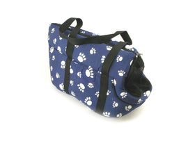 Pet Travel Carrier Shoulder Bag Tote Purse Pouch Cat Dog Soft Plush - Paw Print