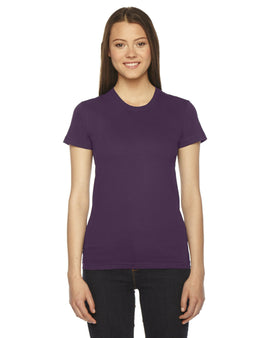 American Apparel 2102W 100% Cotton Women's Fine Jersey T-Shirt Eggplant Small