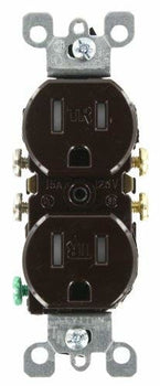 Leviton T5320-W 15 Amp, 125 Volt, Tamper Resistant, Duplex Receptacle, Residential Grade, Grounding
