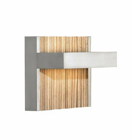 LBL Lighting WS696ZEBZLED Wall Lights with Zebra Insert Shades, Bronze