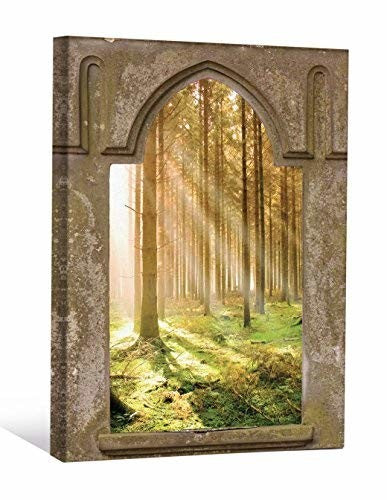 JP London CNV91126 Canvas Art Mystic Forest Game of Thrones Window Wall Effect, 2' x 1.5'