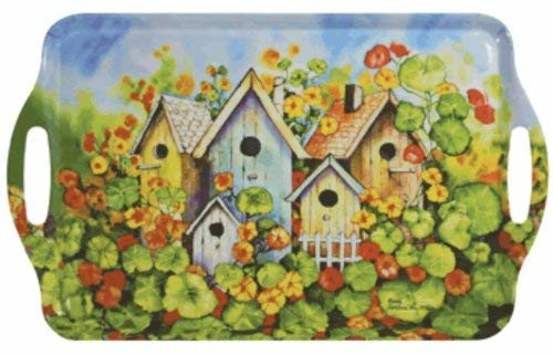 Melamine Serving Trays 19 X 11-1/2 Inches (Birdhouses)