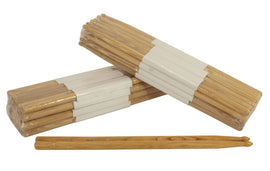 Zenison - 12 PAIRS - 5A WOOD TIP NATURAL OAK DRUMSTICKS