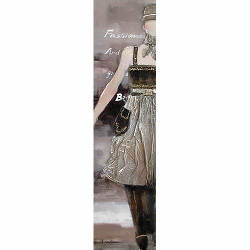 Yosemite Home Decor Black Dress Model Hand Painted Contemporary Artwork, Costume and Fashion Figurative