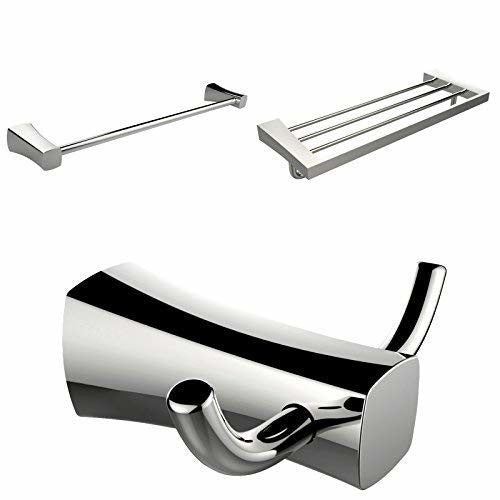 American Imaginations AI-13466 Multi-Rod Towel Rack with Robe Hook and Single Towel Rod Accessory Set