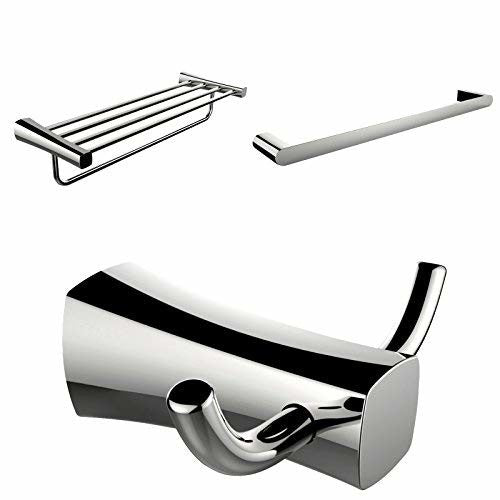American Imaginations AI-13471 Multi-Rod Towel Rack with Robe Hook and Single Towel Rod Accessory Set