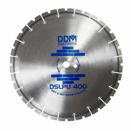 Dixie Diamond DSLPU40010110 Brick & Block Blade for Dry/Wet Cutting 10 x110-Inch with 20mm Bushing