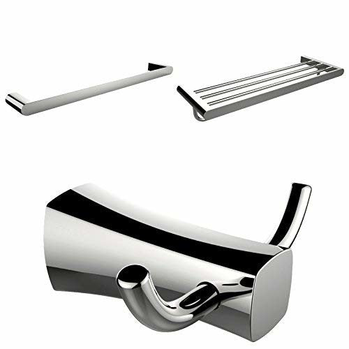 American Imaginations AI-13478 Multi-Rod Towel Rack with Robe Hook and Single Towel Rod Accessory Set