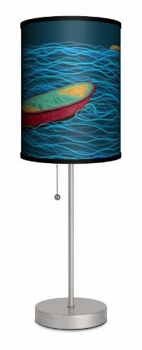Lamp-In-A-Box SPS-FAR-KOBL3 Featured Artists KO Giuseppe Kings Own Beach Life Sport Lamp, Silver