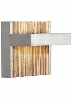 LBL Lighting WS696ZESCLED277 Wall Lights with Zebra Insert Shades, Nickel