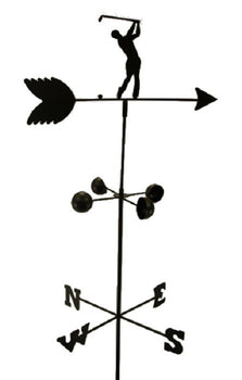 Weather Vane Golfer Golf 6 Feet Tall Black Garden Mount Yard Decor