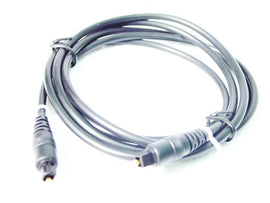 TOSLINK CABLE - 6' ft BLACK - Fiber Optic Audio Cable
