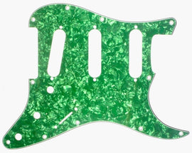GUITAR PICKGUARD - GREEN PEARLOID - REPLACEMENT UNIVERSAL Stratocaster FIT