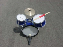 JUNIOR DRUM SET - BLUE - 8 PIECE KIT - ROCK BAND GEAR