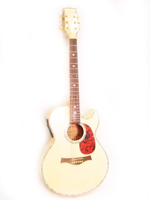 ACOUSTIC-ELECTRIC GUITAR - Maple Mother Of Pearl Custom NEW