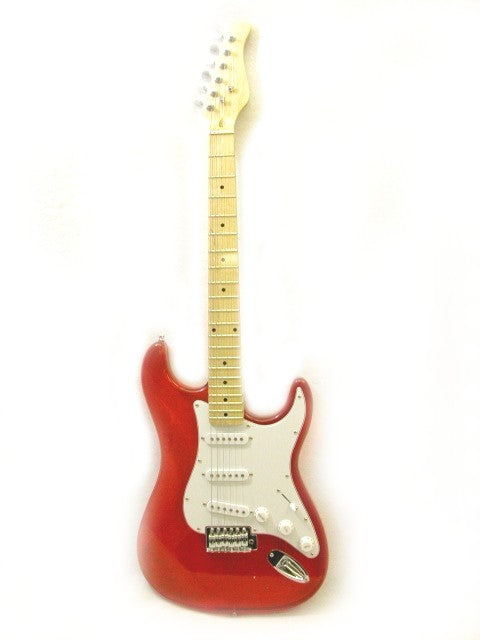 ELECTRIC GUITAR - RED See-Through ACRYLIC - CUSTOM - MAPLE NECK NEW