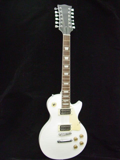 12 String ELECTRIC GUITAR - WHITE - CUSTOM DESIGN NEW
