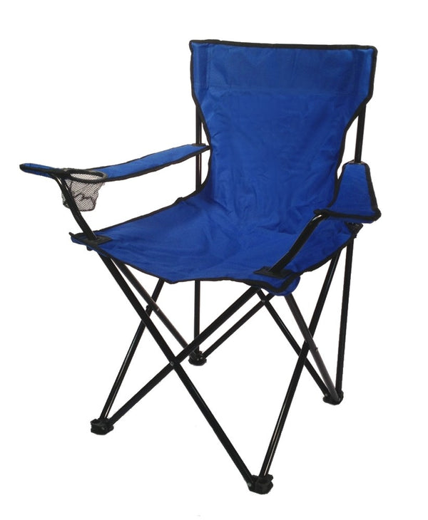 EDMBG FOLDING CAMP CHAIR with Bag - Hiking Fishing Beach Tailgating Quad - Light Duty