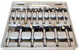 "NEW DRILL BIT SET - 16 piece FORSTNER 1/4"" to 2-1/8"""
