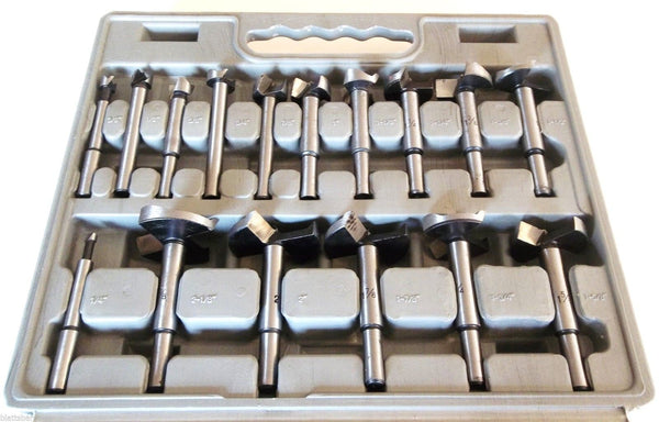 NEW DRILL BIT SET - 16 piece FORSTNER 1/4