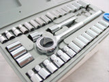 TOOL KIT - 40 piece SOCKET SET w. SAE & METRIC + CASE